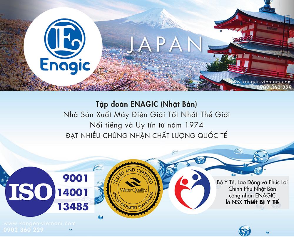 Nước điện giải Nhật Bản và Máy điện giải nước