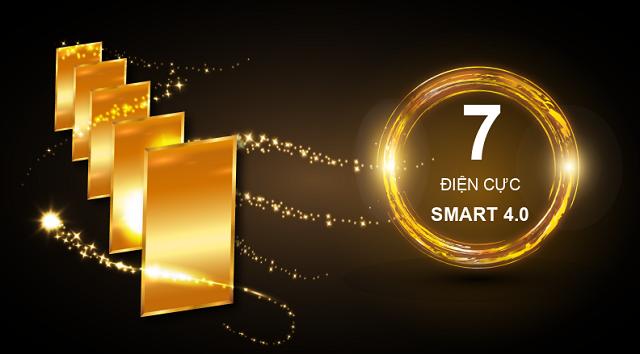 Smart K8 có 7 tấm điện cực, nhiều hơn 2 tấm điện cực so với Smart I8