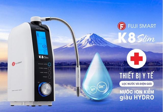máy lọc nước ion kiềm fuji smart k8 slim