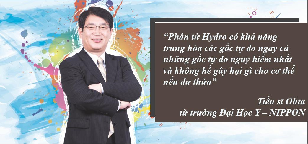 Tiến sĩ Ohta nghiên cứu tác dụng diệu kì của phân tử Hydro