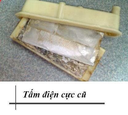 Tấm điện cực cũ, đã qua sử dụng