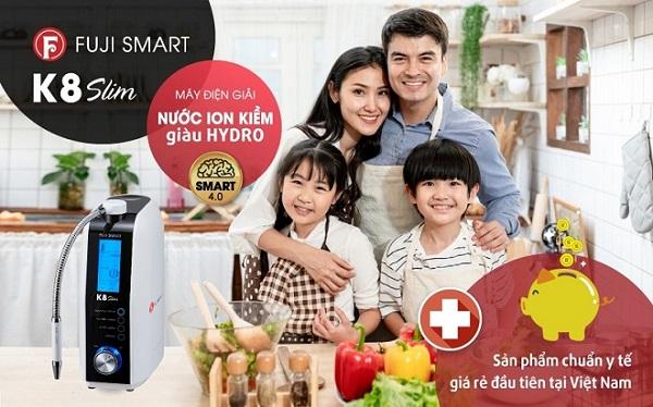 Fuji Smart K8 máy ion kiềm giá rẻ đầu tiên tại Việt Nam