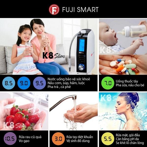 ứng dụng độ pH tạo nên từ Fuji Smart K8 Slim