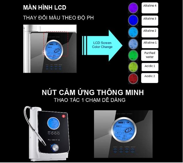 fuji K8 có màn hình LCD thay đổi màu theo độ pH