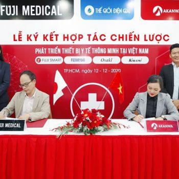 đại diện akanwa ký kết hợp tác cùng fuji medical