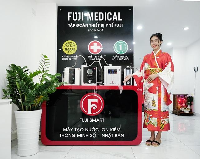 máy lọc nước ion kiềm giàu hydro thông minh fuji smart tại văn phòng Fuji medical