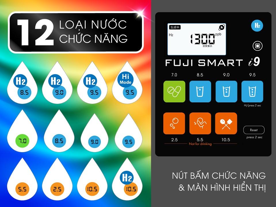 12 loại nước của Fuji Smart i9