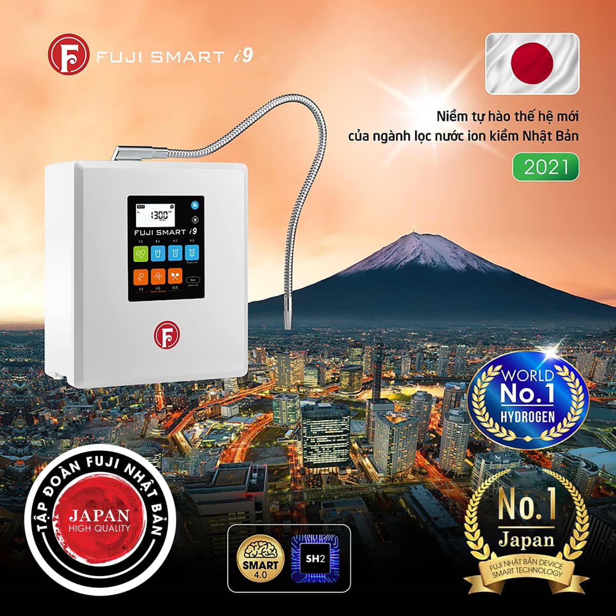 Máy lọc nước ion kiềm giàu hydro Fuji Smart