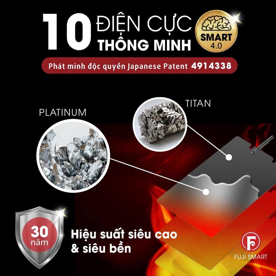 Điện cực titan phủ platinum của máy lọc nước ion kiềm Fuji Smart i9
