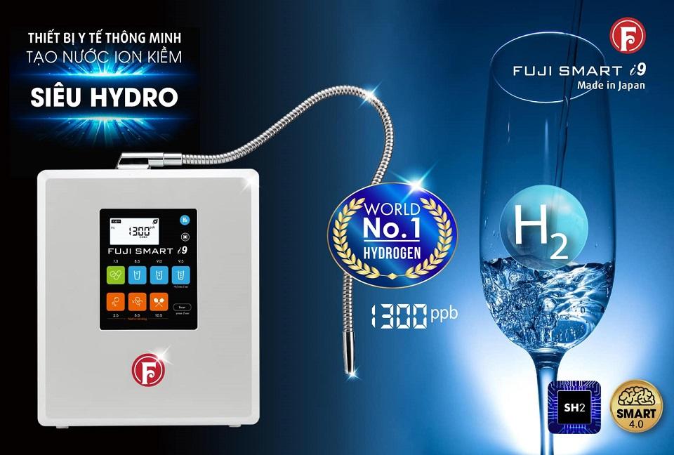 máy lọc nước Fuji Smart i9 tạo hàm lượng hydrogen trong nước uống cao nhất ngành
