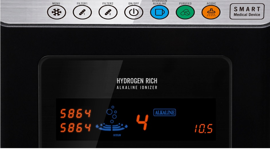 Màn hình máy lọc nước ion kiềm Fuji Smart P8 Home