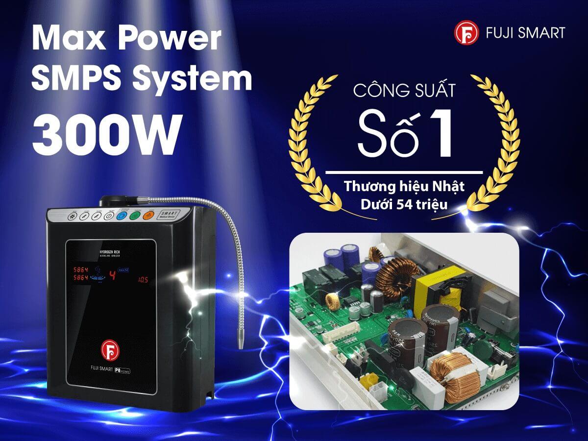 Máy lọc nước ion kiềm Fuji Smart P8 Home công suất mạnh mẽ