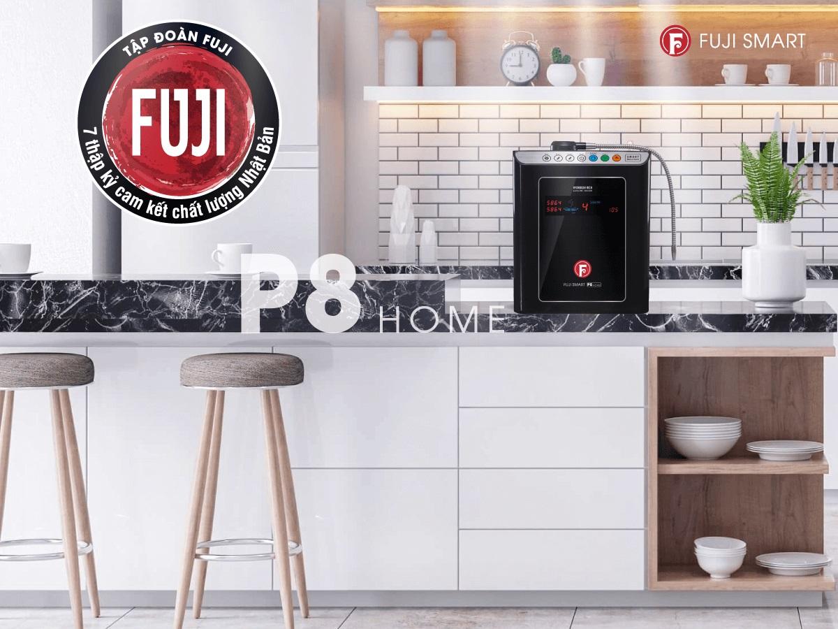 Thiết kế máy lọc nước ion kiềm Fuji Smart P8 Home