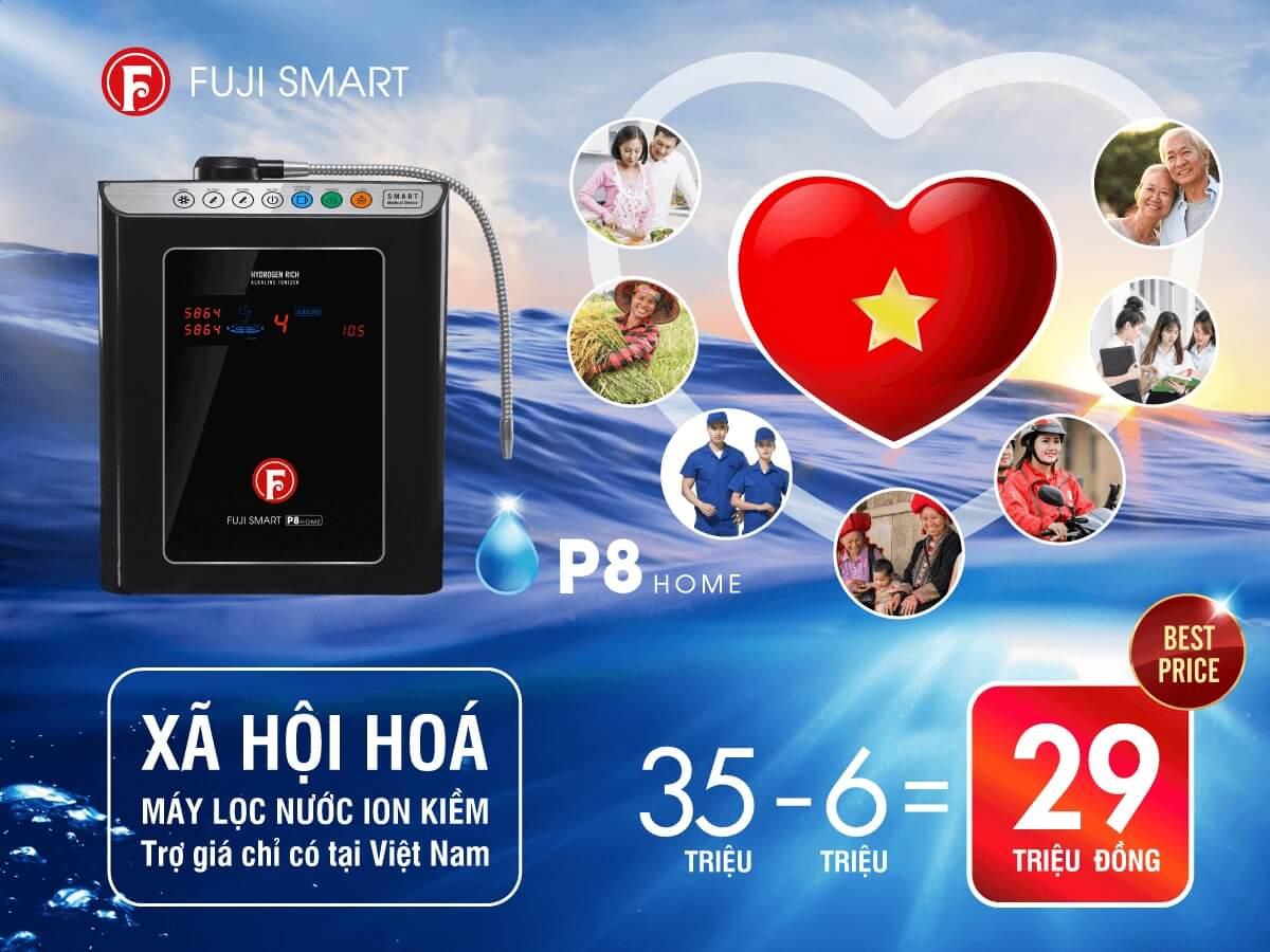 Máy lọc nước ion kiềm Fuji Smart P8 Home giá bao nhiêu?
