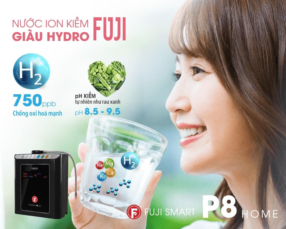 Máy lọc nước ion kiềm Fuji Smart P8 Home tạo nước uống giàu Hydro tốt cho sức khỏe